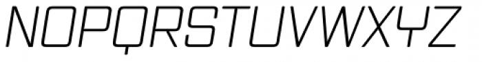 Vox Round Light Italic Font UPPERCASE