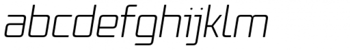 Vox Round Light Italic Font LOWERCASE