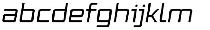 Vox Round Wide Medium Italic Font LOWERCASE