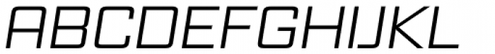 Vox Wide Italic Font UPPERCASE