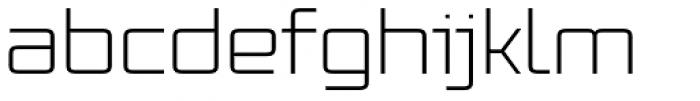 Vox Wide Light Font LOWERCASE