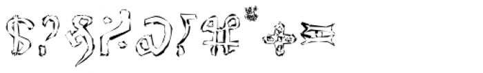 Voynich Etched Font OTHER CHARS