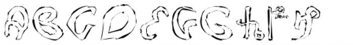 Voynich Etched Font UPPERCASE
