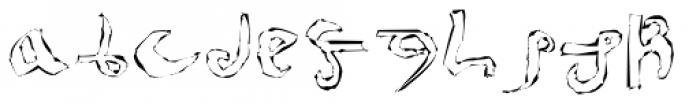 Voynich Etched Font LOWERCASE