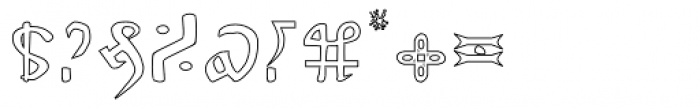 Voynich Hollow Font OTHER CHARS
