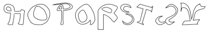 Voynich Hollow Font UPPERCASE