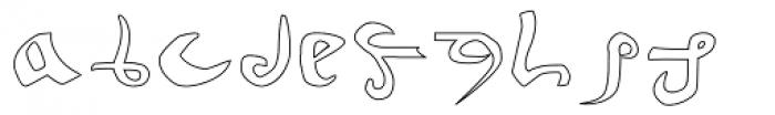 Voynich Hollow Font LOWERCASE