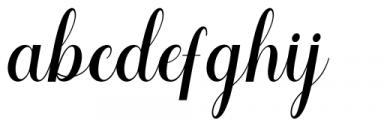Voyntea Regular Font LOWERCASE