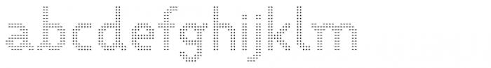 VP Pixel Dot Sparse Font LOWERCASE