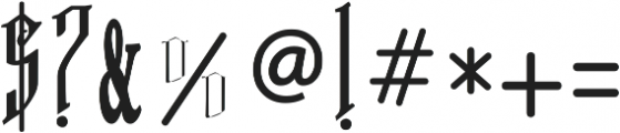 VTKS FREE SOUL-2 ttf (400) Font OTHER CHARS