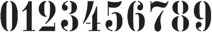 Vtg Stencil Germany No101 otf (400) Font OTHER CHARS