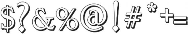 Vtks Bandoleones Bold outlined ttf (700) Font OTHER CHARS