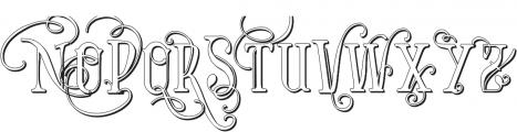 Vtks Bandoleones Bold outlined ttf (700) Font UPPERCASE