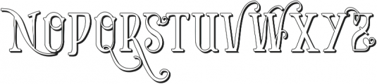 Vtks Bandoleones Bold outlined ttf (700) Font LOWERCASE