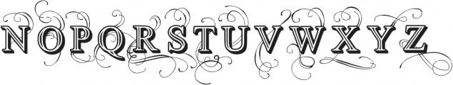 Vtks Simplex Beauty ttf (400) Font UPPERCASE
