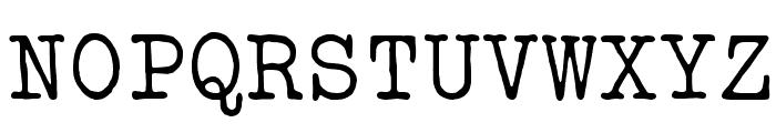 VTBulletin Font UPPERCASE
