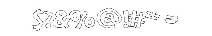 VTC BadPaint Outline Font OTHER CHARS