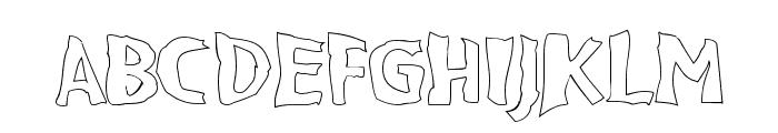 VTC BadPaint Outline Font UPPERCASE