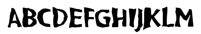 VTC BadPaint Regular Font UPPERCASE