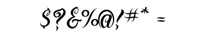 VTC-BadTattooHandOne Font OTHER CHARS