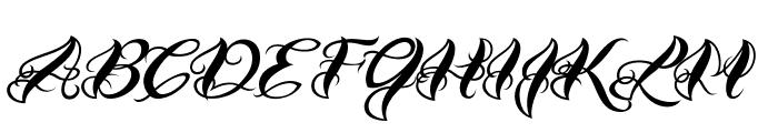 VTC-BadTattooHandOne Font UPPERCASE