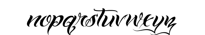 VTC-BadTattooHandOne Font LOWERCASE