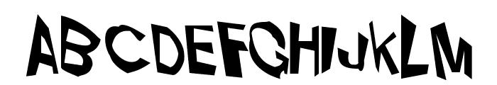 VTC Dizplaced Regular Font LOWERCASE