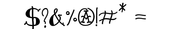 VTC-FreehandTattooOne Font OTHER CHARS