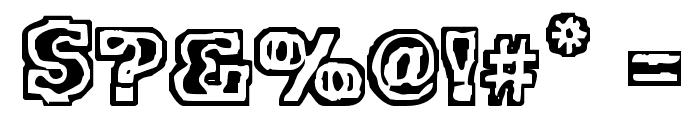 VTC FunkinFrat Regular Font OTHER CHARS