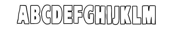 VTC-KomikaHeadLinerTwo Outline Font UPPERCASE