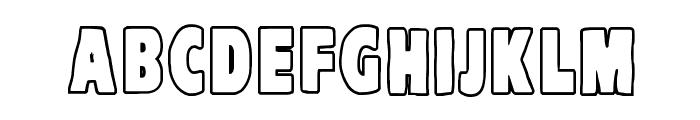 VTC-KomikaHeadLinerTwo Outline Font LOWERCASE
