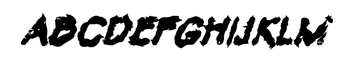 VTC Krinkle-Kut Bold Italic Font UPPERCASE