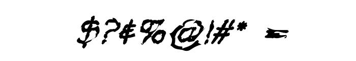 VTC Krinkle-Kut Regular Italic Font OTHER CHARS