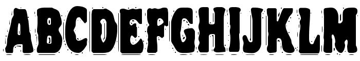 VTC NightOfTheDrippyDead Regular Font UPPERCASE