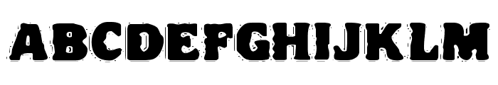 VTC NightOfTheDrippyDeadFatCaps Font UPPERCASE