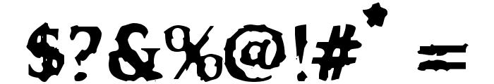 VTC OldAsCrap Regular Font OTHER CHARS