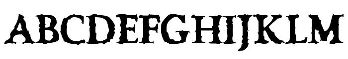 VTC OldAsCrap Regular Font UPPERCASE