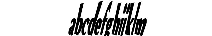 VTC Optika Bold Italic Font LOWERCASE