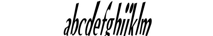 VTC Optika Regular Italic Font LOWERCASE