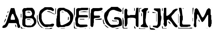 VTC PizzOffWired Regular Font UPPERCASE
