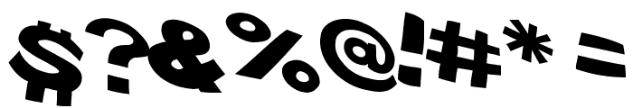 VTC ScreamItLoud Regular Font OTHER CHARS