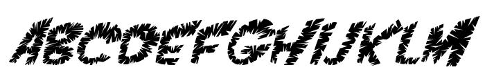 VTC ScreamItLoudSliced Italic Font UPPERCASE