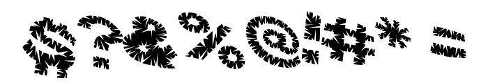 VTC ScreamItLoudSliced Regular Font OTHER CHARS