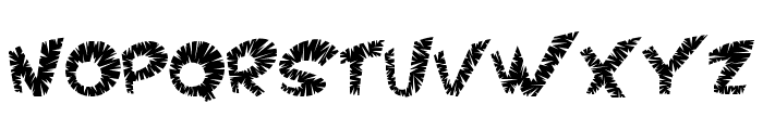 VTC ScreamItLoudSliced Regular Font UPPERCASE