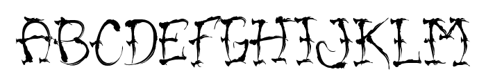 VTC-SumiSlasherOne Font UPPERCASE
