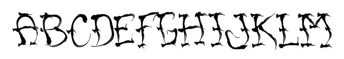 VTC SumiSlasherOneJitteryBasterd Font LOWERCASE