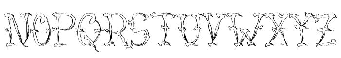 VTC-SumiSlasherOneSkinned Font UPPERCASE