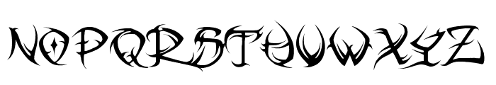 VTC Tribal Regular Font LOWERCASE