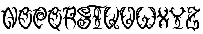 VTC-TribalThreeFree Font LOWERCASE
