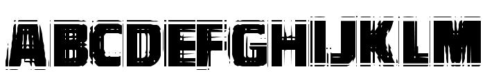 VTCBadVision Regular Font UPPERCASE
